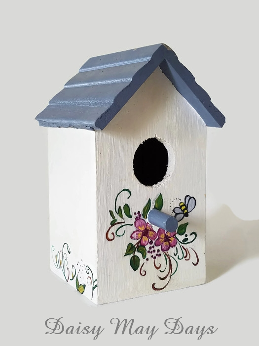 Folk Art Birdhouse Daisy May Days