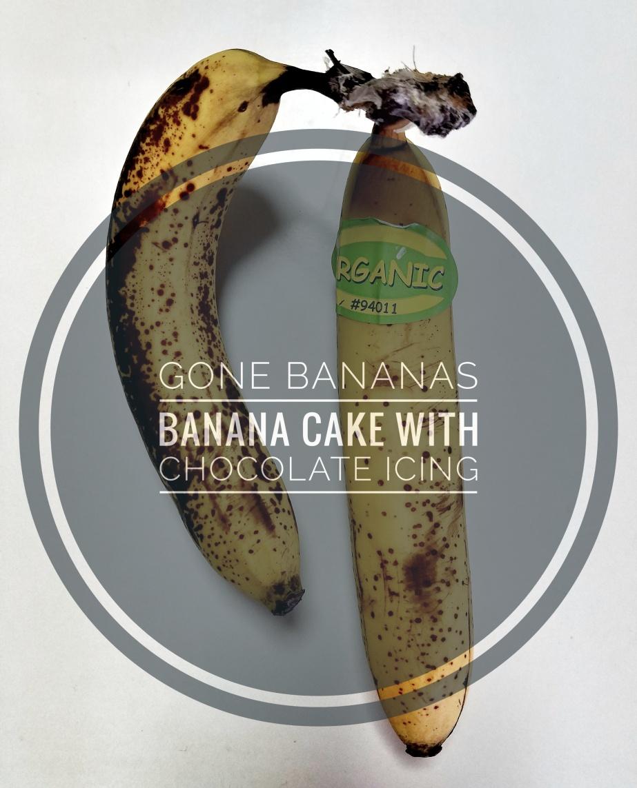 Gone Bananas – Banana Cake with ChocolateIcing