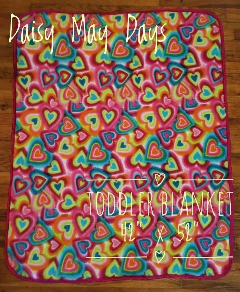 Tie Dye Hearts Toddler Blanket 1