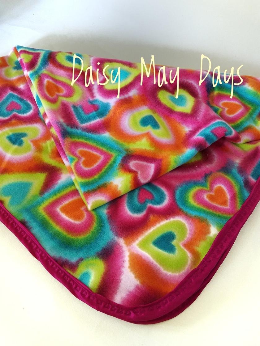 Tie Dye Hearts Toddler Blanket 6